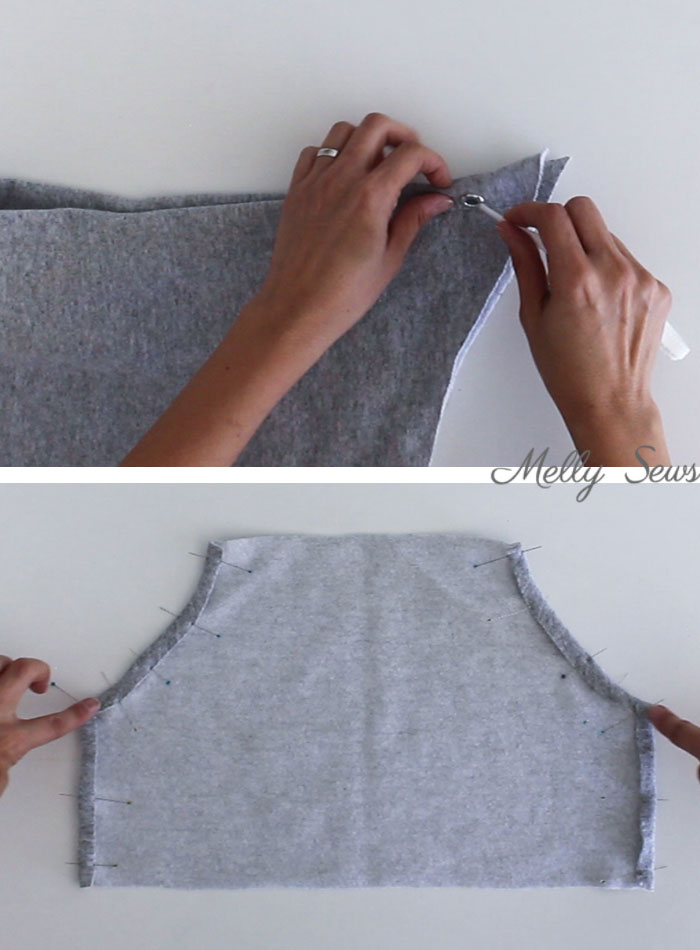 step 3 - Sew a Hoodie - Make a Hoodie for Men or Women - Unisex Hoody - Melly Sews