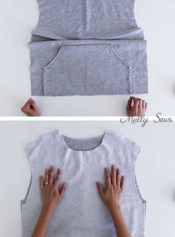 step 5 - Sew a Hoodie - Make a Hoodie for Men or Women - Unisex Hoody - Melly Sews
