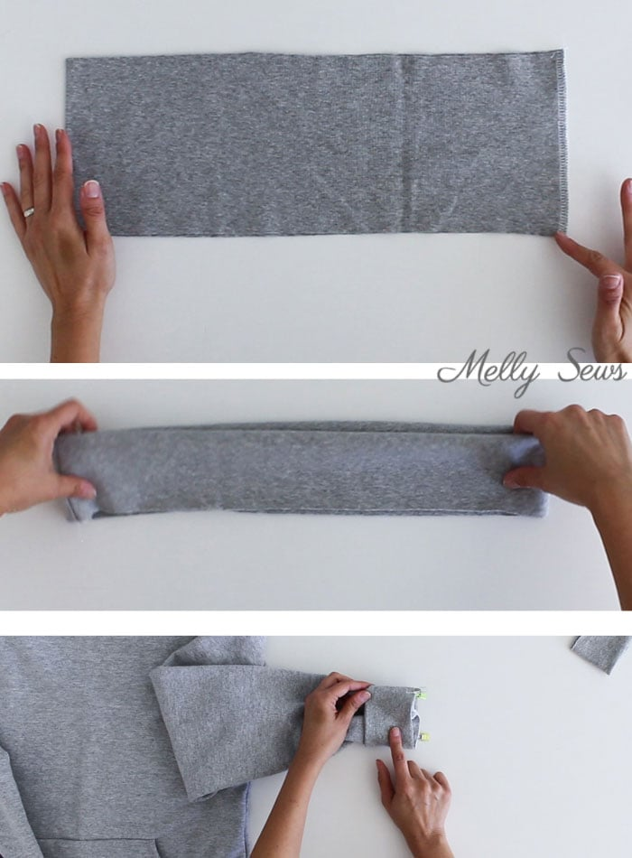 step 8 - Sew a Hoodie - Make a Hoodie for Men or Women - Unisex Hoody - Melly Sews