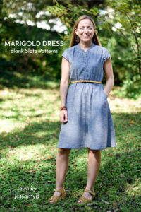 Marigold Dress sewing pattern by Blank Slate Patterns sewn by JessamyB