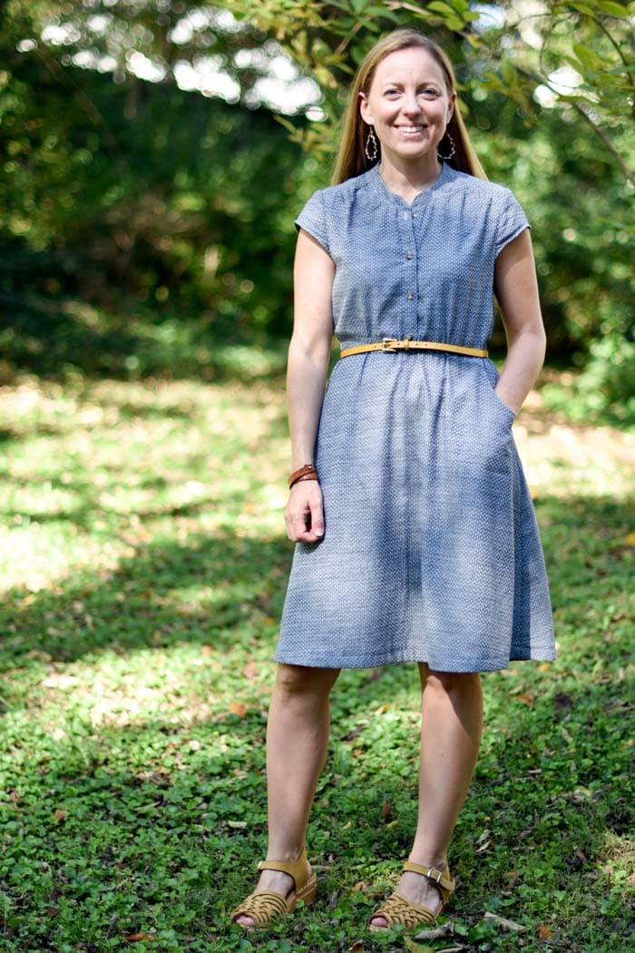 Marigold Dress sewing pattern by Blank Slate Patterns sewn by JessamyB