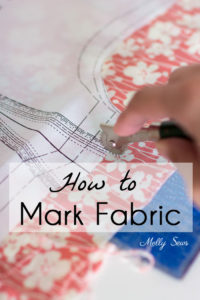 How to mark fabric for sewing - an overview of fabric marking tools - Melly Sews