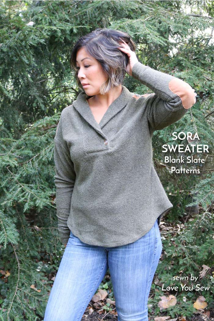 Sora Sweater sewing pattern from Blank Slate Patterns sewn by Love You Sew