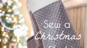 Beautiful Christmas stockings - DIY tutorial to make these with a free sewing pattern - Melly Sews