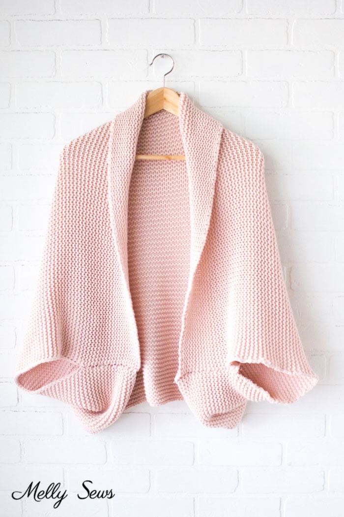 Sweater from a Blanket - DIY Cocoon Cardigan - Make a Blanket Sweater - Sew a Sweater - Melly Sews
