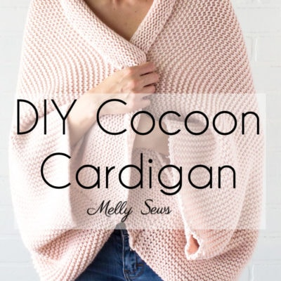 DIY Cocoon Cardigan - Make a Blanket Sweater - Sew a Sweater - Melly Sews