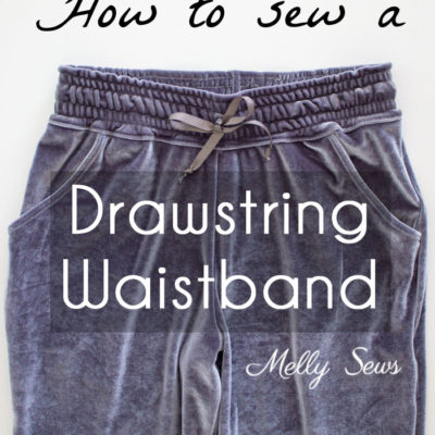 How to Sew a Drawstring Waistband