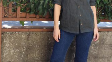 Novelista Shirt sewing pattern by Blank Slate Patterns sewn by Handmade by Lizzy