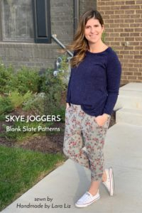 Skye Joggers sewing pattern from Blank Slate Patterns sewn by Handmade by Lara Liz