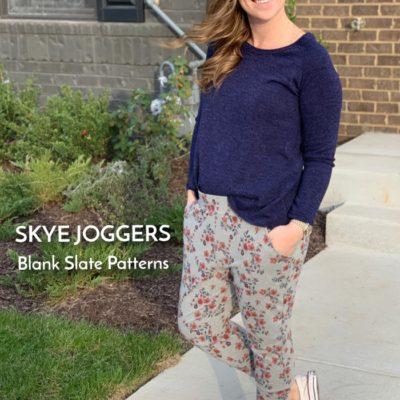 Skye Joggers with Handmade by Lara Liz