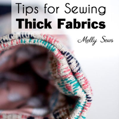 How to Sew Thick Fabric