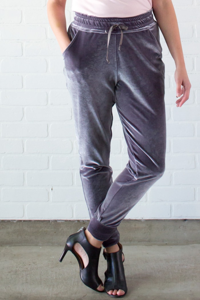 Velour sweatpants - Learn to Sew a Drawstring Waistband - Jogger Pants Waistband How To