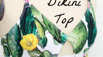Use a free bra pattern to sew a bikini top - DIY bikini top you can make yourself with this video tutorial.