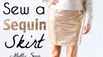 How to sew a sequin skirt - tutorial with video from Melly Sews