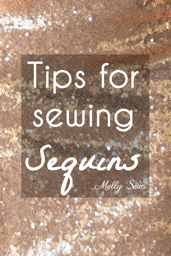 How to sew sequin fabric - Melly Sews
