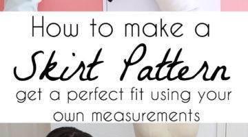 How to makae a skirt pattern - draft a skirt block or skirt sloper