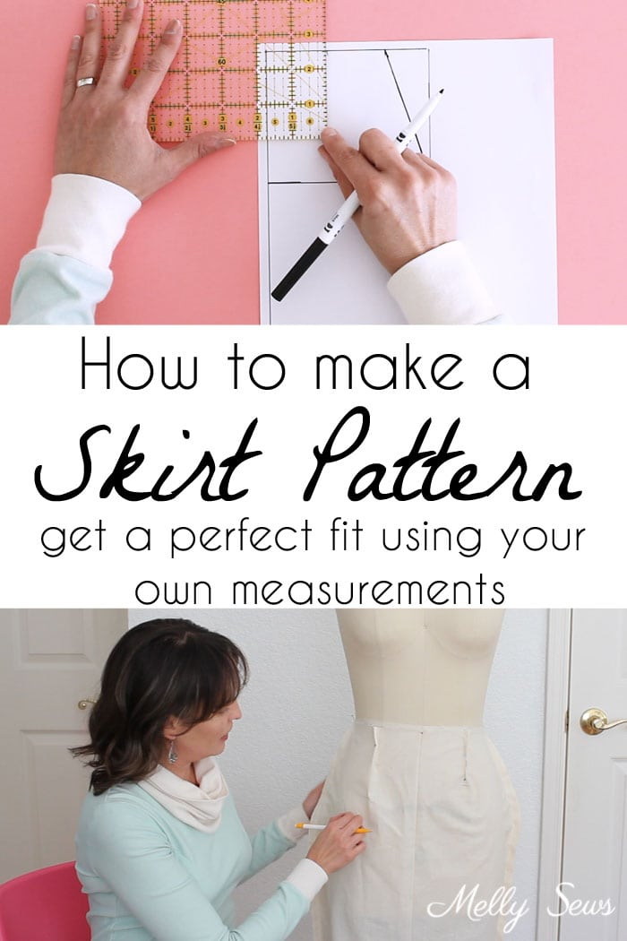 How to make a skirt pattern - draft a skirt block or skirt sloper