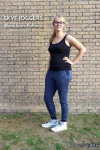 Skye Joggers sewing pattern from Blank Slate Patterns sewn by sewingridd