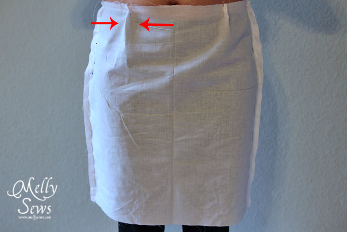 Skirt muslin - How to makae a skirt pattern - draft a skirt block or skirt sloper
