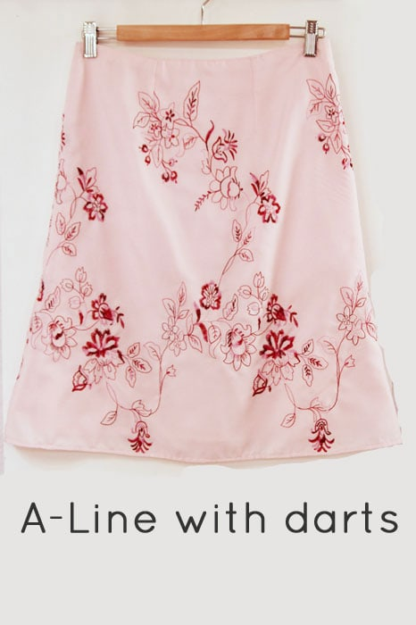 A-line skirt with darts - How to makae a skirt pattern - draft a skirt block or skirt sloper