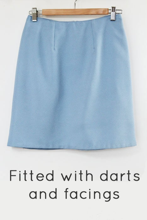 Basic darted skirt with facings - How to makae a skirt pattern - draft a skirt block or skirt sloper