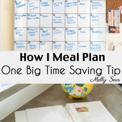 Make Time for Sewing – How I Meal Plan