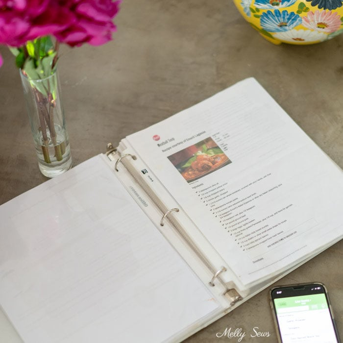 Recipe book - Meal Planning - How I Save Time with a monthly meal plan - Melly Sews