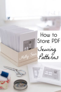 How to store sewing patterns - PDF sewing pattern storage - Melly Sews