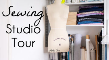 Tour my sewing studio - craft room ideas for organization - Melly Sews