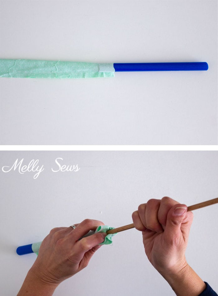 Use a Quick Turn Tool - 3 Ways to Turn a Tube Right Side Out - How to Turn Fabric - Melly Sews