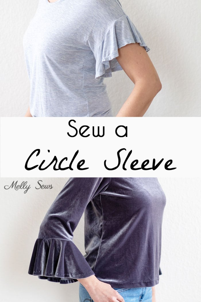How to Sew a Circle Sleeve - Sleeve Ruffle Tutorial - Melly Sews