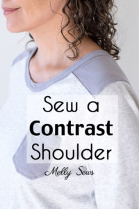 How to Sew a Contrast Shoulder - T-shirt Hack by Melly Sews