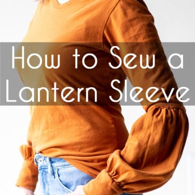 How to sew a lantern sleeve -bishop sleeve variation sleeve hack you can do on any shirt - Melly Sews