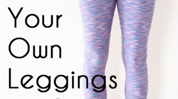 Sew leggings - make your own leggings pattern with this DIY tutorial - Melly Sews