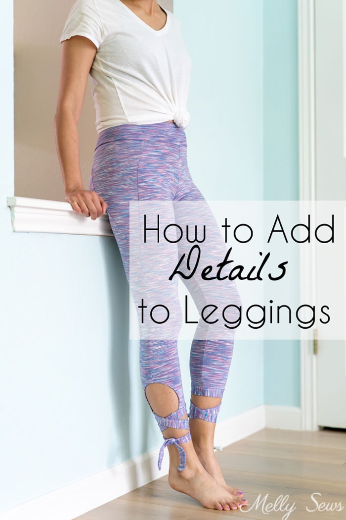 Sew tie leggings - these leggings with cutouts and ties  are ballet inspired and have pockets! - Melly Sews