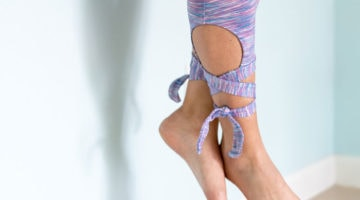 Leggings ties - Sew tie leggings - these leggings with cutouts and ties are ballet inspired and have pockets! - Melly Sews