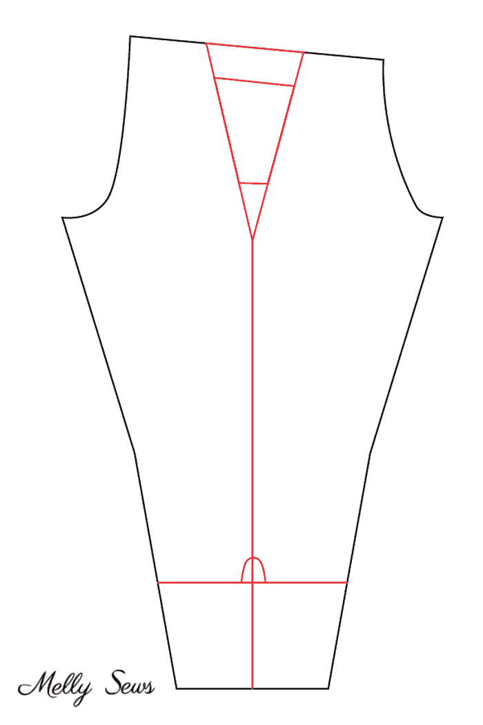 Design lines for cropped tie leggings - Sew tie leggings - these leggings with cutouts and ties are ballet inspired and have pockets! - Melly Sews