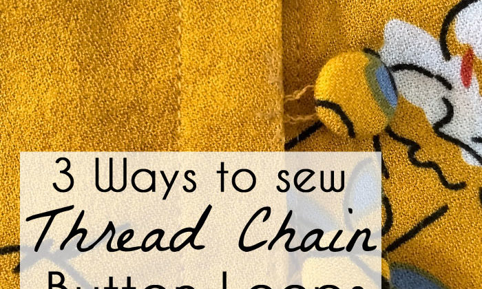 How t sew a thread chain - useful for belt loops or button loops - DIY tutorial by Melly Sews