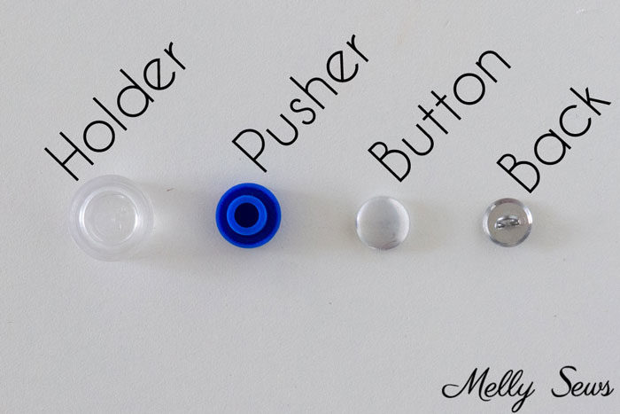 Button cover kit - How to make covered buttons - DIY cover button tutorial - custom buttons for your sewing projects - Melly Sews