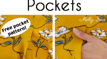 How to Sew Pockets - Add Pockets to a Garment - Side Seam Pocket Tutorial with Free Pattern - Melly Sews