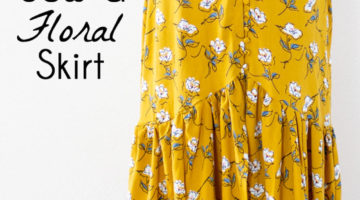 Sew a floral skirt - boho ruffled yellow skirt - DIY tutorial by Melly Sews