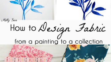 How to design fabric - turn a drawing into a fabric repeat design - Melly Sews Blooms and Bobbins