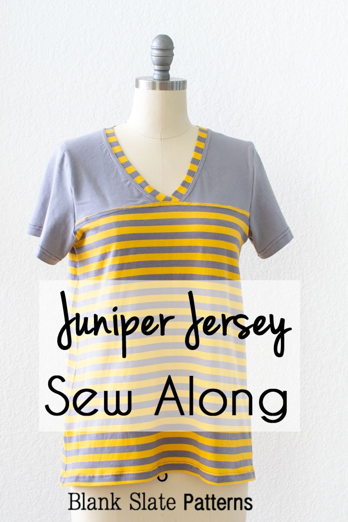 Sew a football jersey style t-shirt for women using the Juniper Jersey pattern