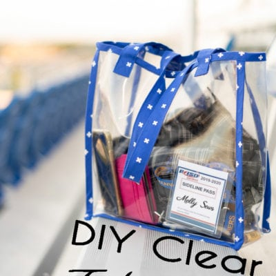 Sew a Clear Bag – DIY Vinyl Stadium Tote