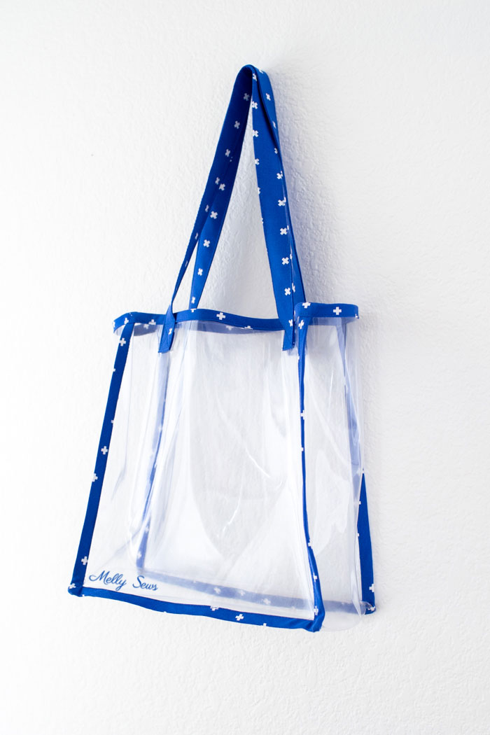 Clear stadium bag - make a vinyl tote - Melly Sews