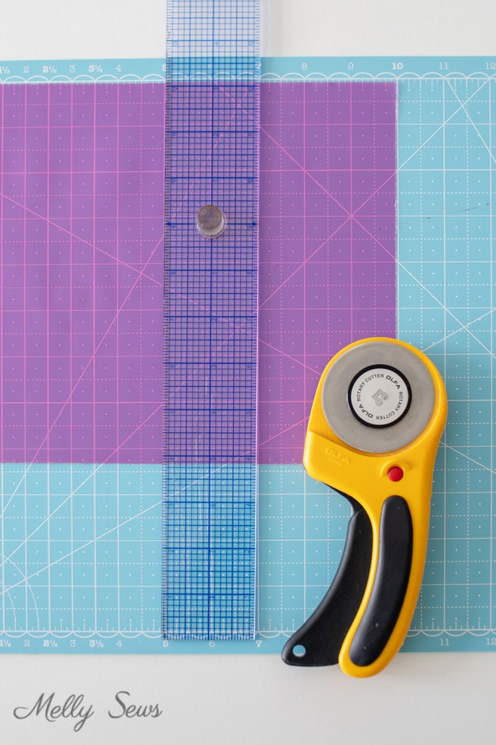Mat and rotary cutter for sewing - how to sew vinyl - Melly Sews