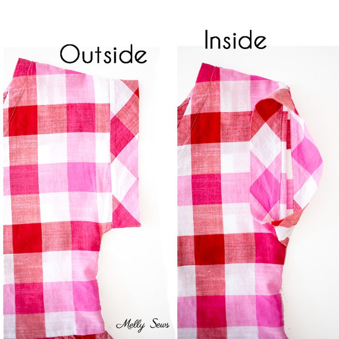 Outside vs Inside - How to stitch in the ditch - video tutorial for this sewing technique including why and where you might use it - Melly Sews