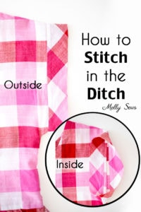How to stitch in the ditch - video tutorial for this sewing technique including why and where you might use it.
