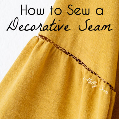 How to Sew Decorative Stitches – Bridging or Fagoted Seam