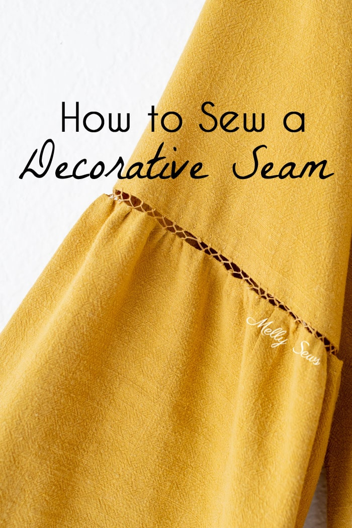 How to sew fagoting, a decorative stitch for clothing - hand sewing and machine sewing options - Melly Sews